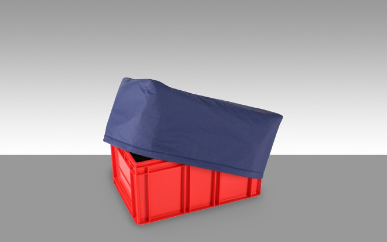 Protective covers for logistics boxes