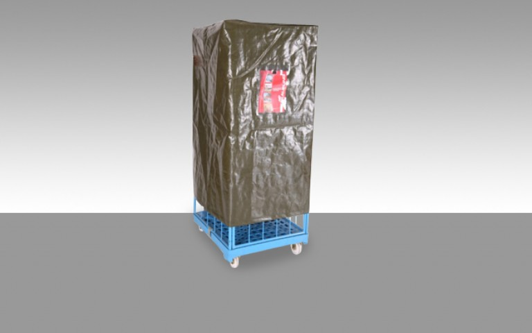 Protective covers for logistics vehicles and trolleys